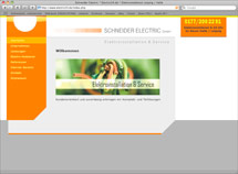 Website Schneider Electric GmbH